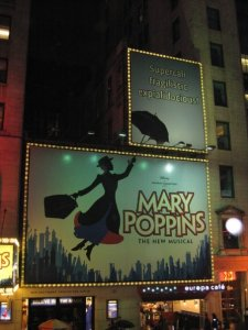 Cartell del musical de Mary Poppins a Broadway